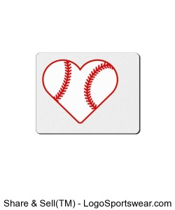 Love Baseball Mouse Pad Design Zoom